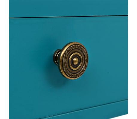 vidaXL Rašomasis stalas su stalčiumi, 90x50x76,5cm, vintaž. žalia sp.[6/9]