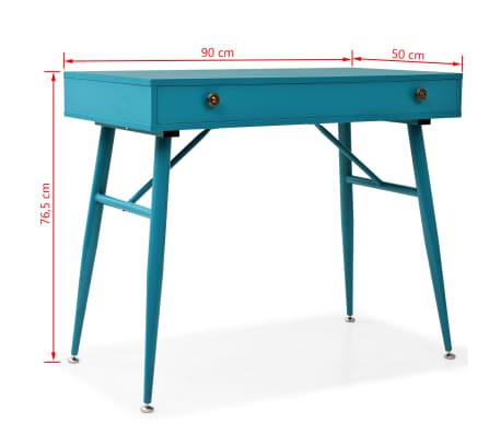 vidaXL Rašomasis stalas su stalčiumi, 90x50x76,5cm, vintaž. žalia sp.[9/9]