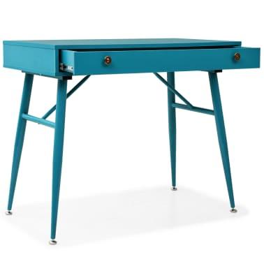 vidaXL Rašomasis stalas su stalčiumi, 90x50x76,5cm, vintaž. žalia sp.[2/9]