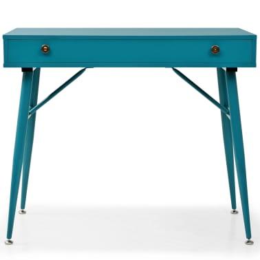 vidaXL Rašomasis stalas su stalčiumi, 90x50x76,5cm, vintaž. žalia sp.[3/9]