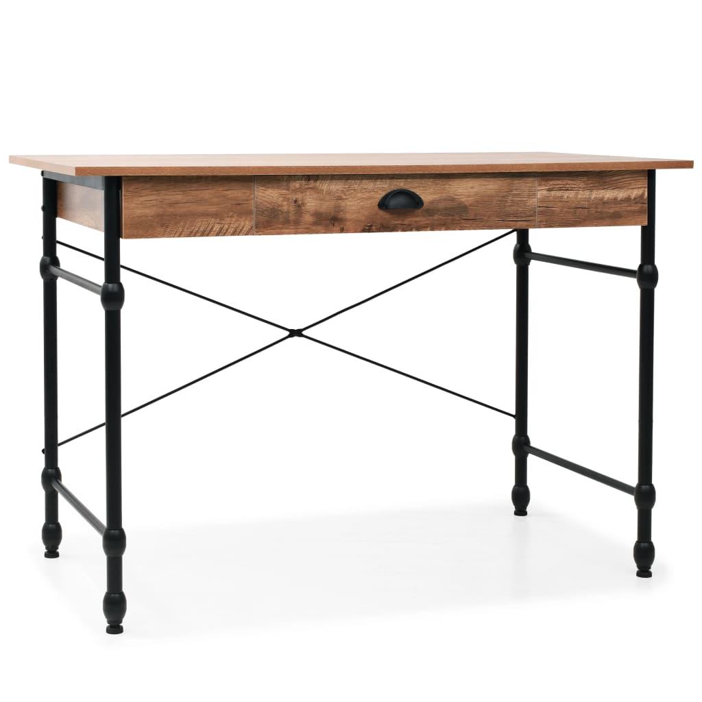 vidaXL Psací stůl se zásuvkou 110 x 55 x 75 cm dubový odstín