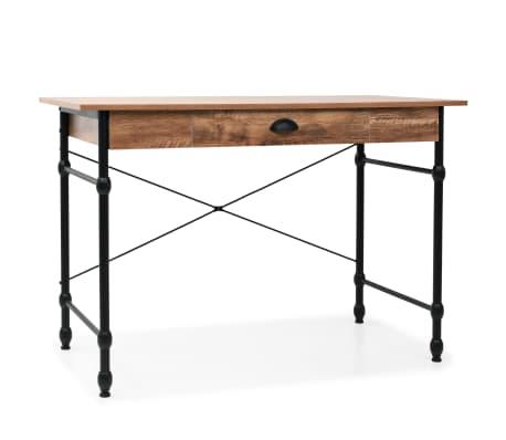 vidaXL Rašomasis stalas su stalčiumi, 110x55x75cm, ąžuolo spalva