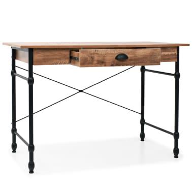 vidaXL Schrijftafel met lade 110x55x75 cm eikenkleur[2/8]