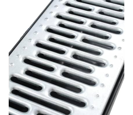 vidaXL Canales de drenaje 3 unidades acero galvanizado 3 m[4/5]