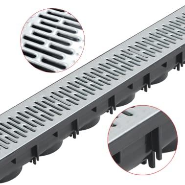 vidaXL Canales de drenaje 3 unidades acero galvanizado 3 m[3/5]