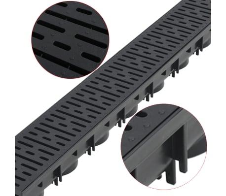 vidaXL Canales de drenaje 3 unidades plástico 3 m[3/5]