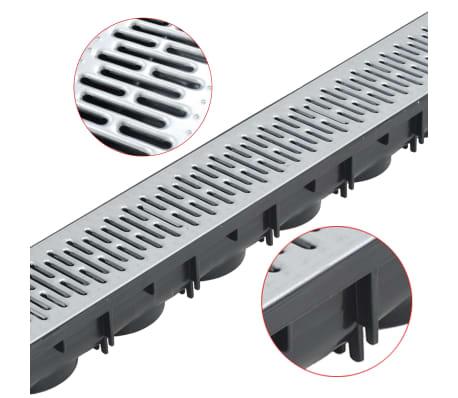 vidaXL Canales de drenaje 6 unidades acero galvanizado 6 m[3/5]