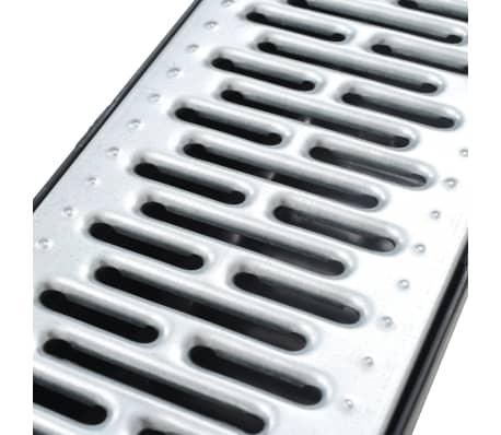 vidaXL Canales de drenaje 6 unidades acero galvanizado 6 m[4/5]