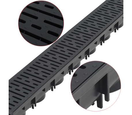 vidaXL Canales de drenaje 6 unidades plástico 6 m[3/5]