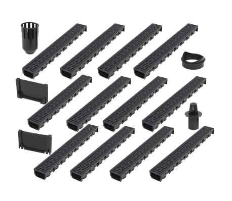 vidaXL Canales de drenaje 12 unidades plástico 12 m[1/5]
