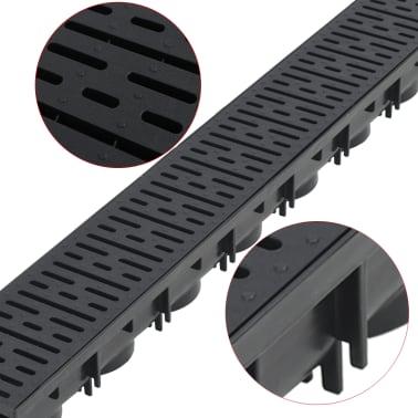 vidaXL Canales de drenaje 12 unidades plástico 12 m[3/5]