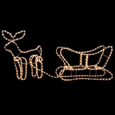 vidaXL Julelys dekorasjon reinsdyr og slede 110x24x47 cm[3/4]