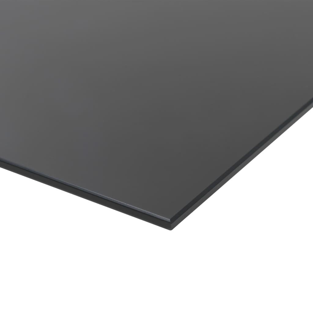 Nástěnná magnetická černá tabule skleněná 60 x 20 cm