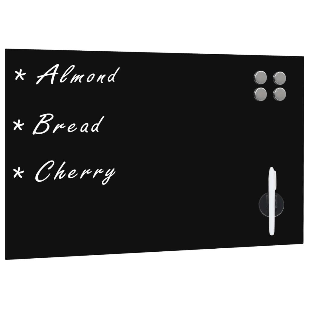 vidaXL Nástěnná magnetická černá tabule skleněná 60 x 40 cm