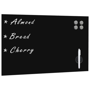 vidaXL Prie sienos montuojama magnetinė lenta, stiklinė, juoda,60x40cm[1/4]
