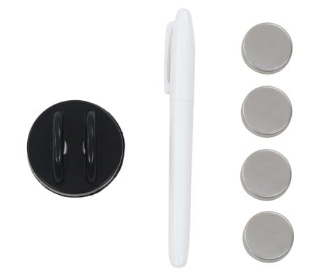 vidaXL Prie sienos montuojama magnetinė lenta, stiklinė, juoda,60x40cm[4/4]