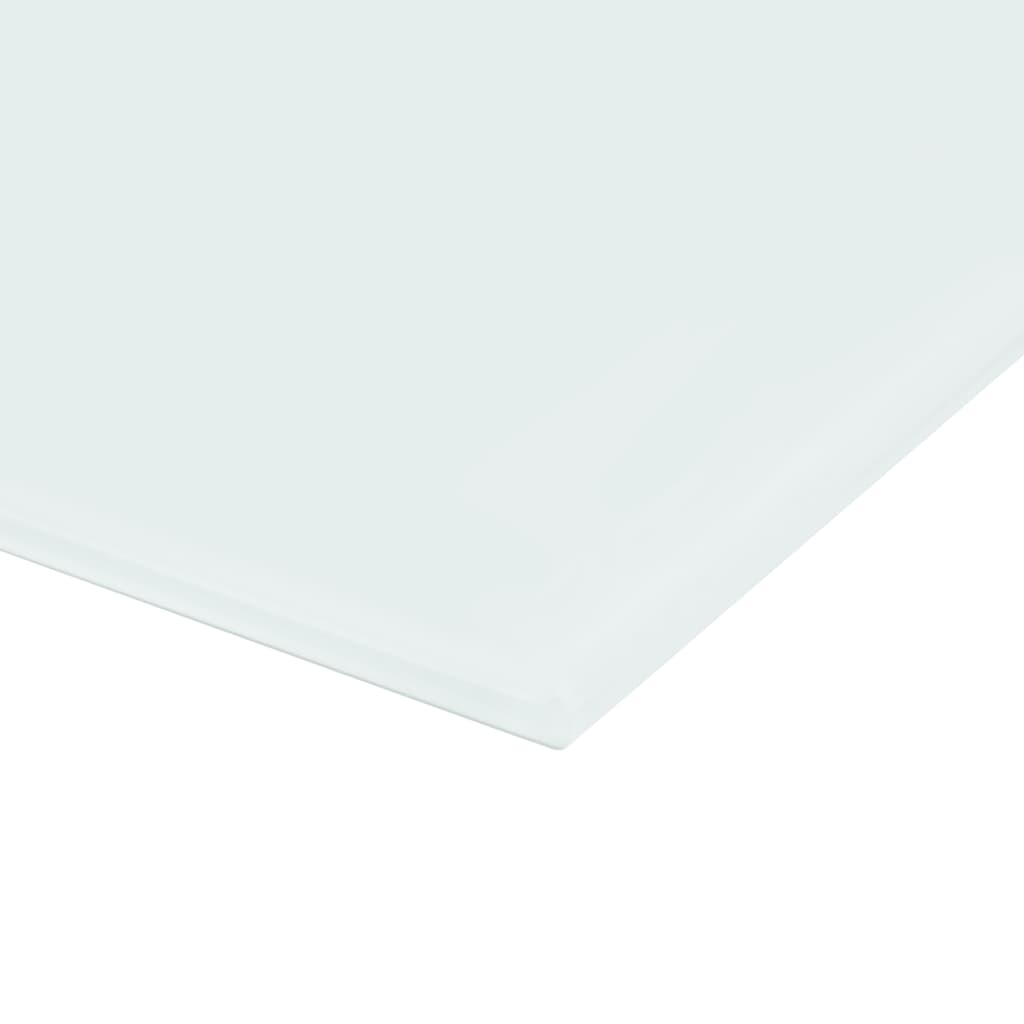 Nástěnná magnetická tabule skleněná bílá 60 x 20 cm