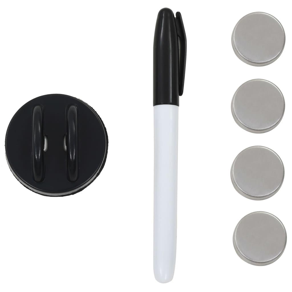 Nástěnná magnetická tabule bílá skleněná 60 x 40 cm