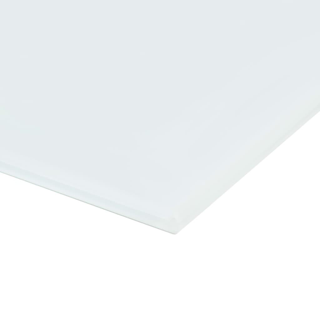 Nástěnná magnetická tabule skleněná bílá 80 x 60 cm
