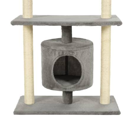 vidaXL Kattenkrabpaal met sisal krabpalen 95 cm grijs[7/7]