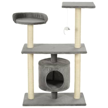 vidaXL Kattenkrabpaal met sisal krabpalen 95 cm grijs[3/7]