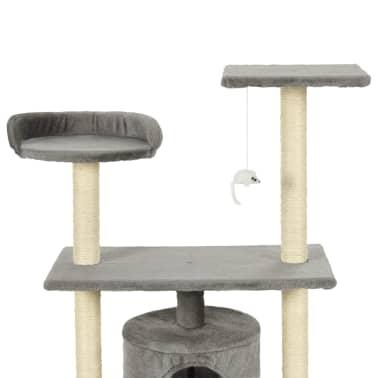 vidaXL Kattenkrabpaal met sisal krabpalen 95 cm grijs[4/7]