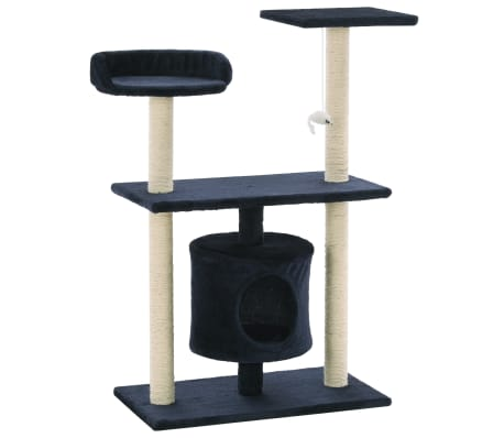 vidaXL Cat Tree with Sisal Scratching Posts 95 cm Dark Blue