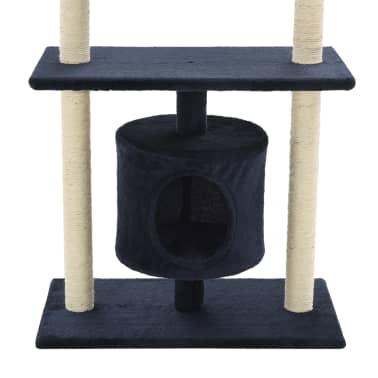 vidaXL Mačje drevo s praskalniki iz sisala 95 cm temno modre barve[7/7]