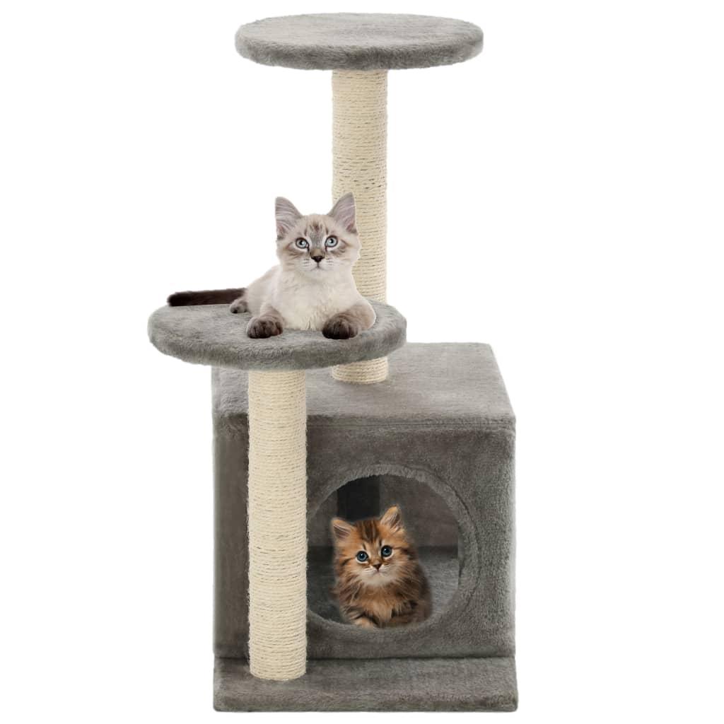 vidaXL Škrabadlo pro kočky se sisalovými sloupky 60 cm šedé