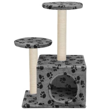 vidaXL Mačje drevo s praskalniki iz sisala 60 cm sive barve s tačkami[4/6]