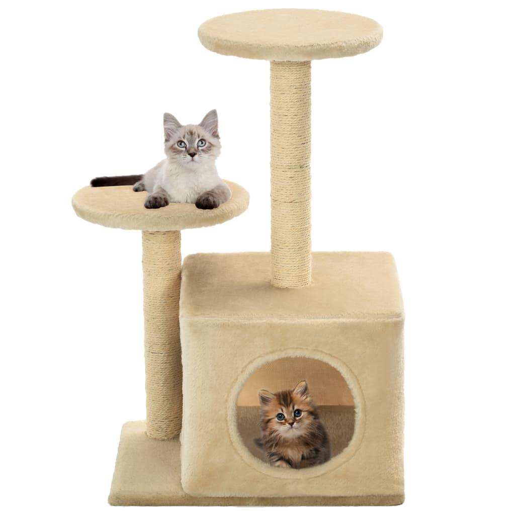 Škrabadlo pro kočky sisalové sloupky 60 cm béžové