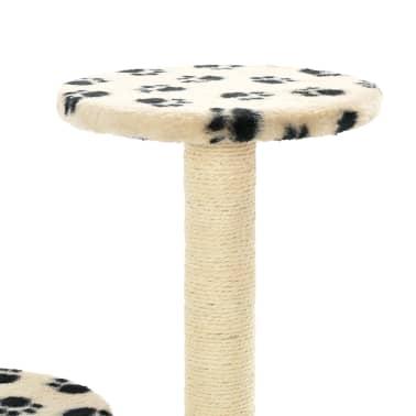 vidaXL Mačje drevo s praskalniki iz sisala 60 cm bež barve s tačkami[6/6]