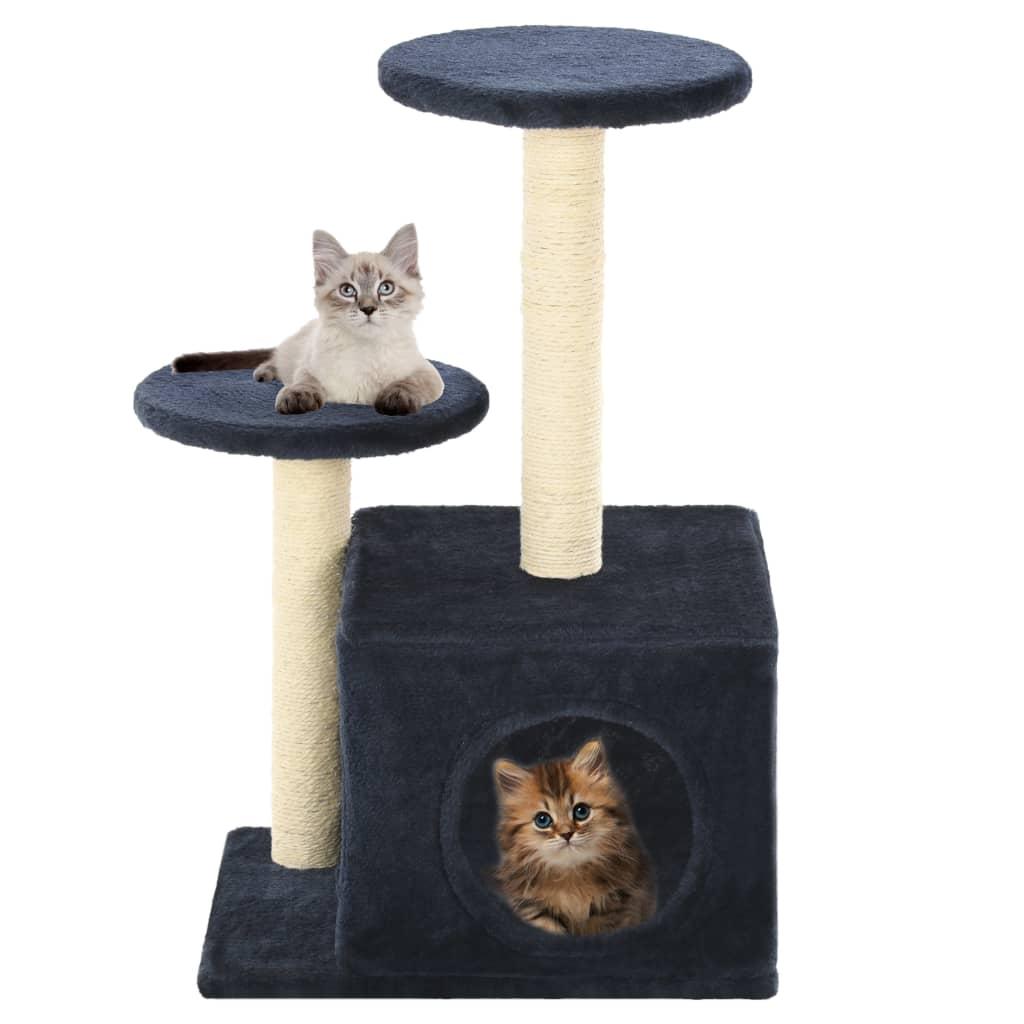 vidaXL Škrabadlo pro kočky se sisalovými sloupky 60 cm tmavě modrá