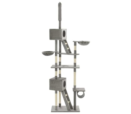 vidaXL Katzen-Kratzbaum Sisal 230 - 260 cm Grau[3/6]