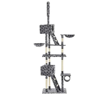 vidaXL Mačje drevo s praskalniki iz sisala 230-260 cm sivo s tačkami[3/6]