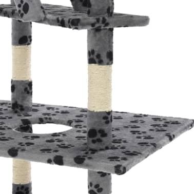 vidaXL Mačje drevo s praskalniki iz sisala 230-260 cm sivo s tačkami[5/6]