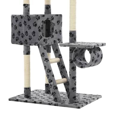 vidaXL Mačje drevo s praskalniki iz sisala 230-260 cm sivo s tačkami[6/6]