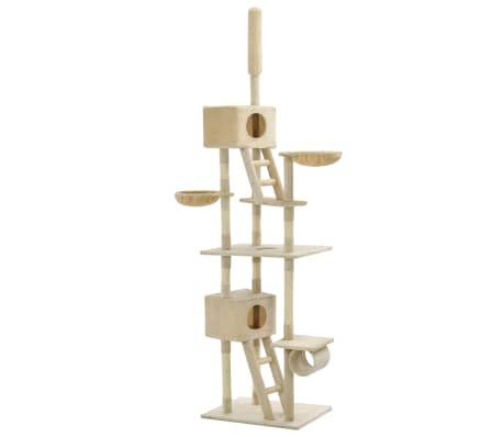 vidaXL Cat Tree with Sisal Scratching Posts 230-260 cm Beige