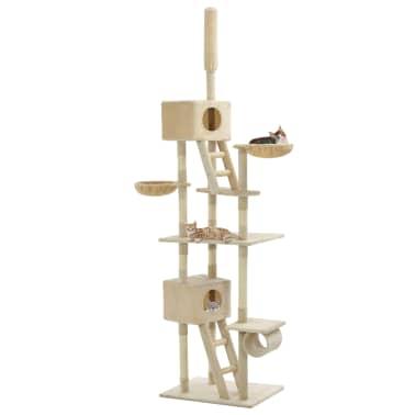 vidaXL Mačje drevo s praskalniki iz sisala 230-260 cm bež barve[1/6]