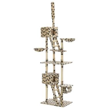 vidaXL Mačje drevo s praskalniki iz sisala 230-260 cm bež s tačkami[2/6]