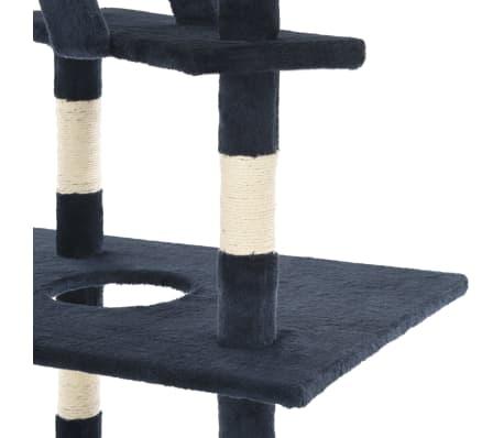 vidaXL Mačje drevo s praskalniki iz sisala 230-260 cm temno modra[4/5]