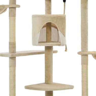 vidaXL Mačje drevo s praskalniki iz sisala 203 cm bež in bele barve[5/6]