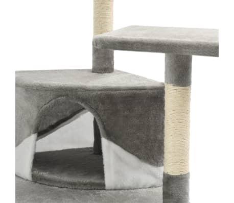 vidaXL Mačje drevo s praskalniki iz sisala 203 cm sive in bele barve[6/6]