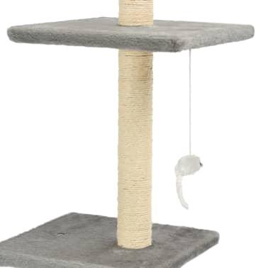 vidaXL Mačje drevo s praskalniki iz sisala 260 cm sive barve[4/6]