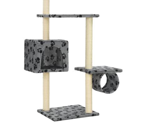 vidaXL Mačje drevo s praskalniki iz sisala 260 cm sivo s tačkami[6/6]