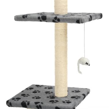 vidaXL Mačje drevo s praskalniki iz sisala 260 cm sivo s tačkami[4/6]