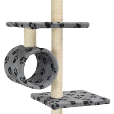 vidaXL Mačje drevo s praskalniki iz sisala 260 cm sivo s tačkami[5/6]