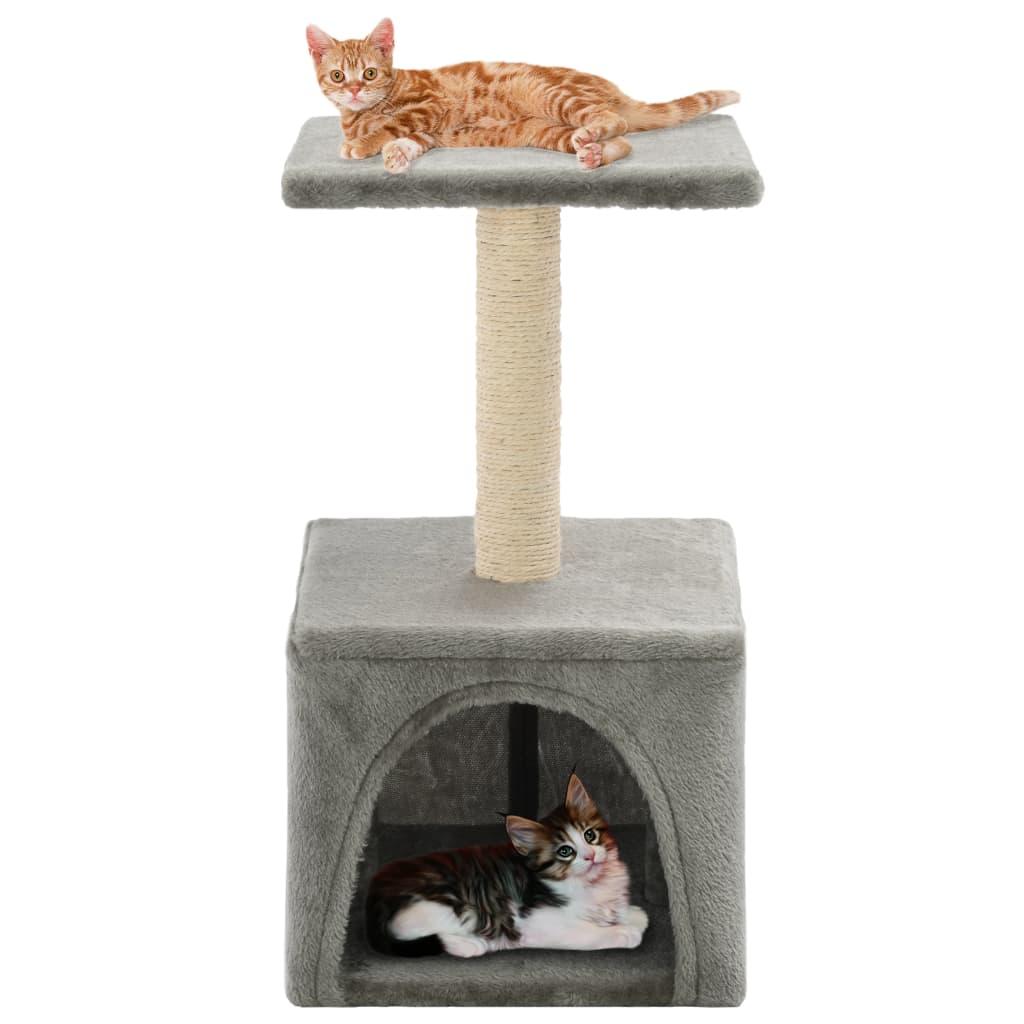 Škrabadlo pro kočky sisalové sloupky 55 cm šedé