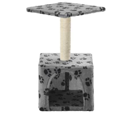 vidaXL Mačje drevo s praskalniki iz sisala 55 cm sive barve s tačkami[3/6]