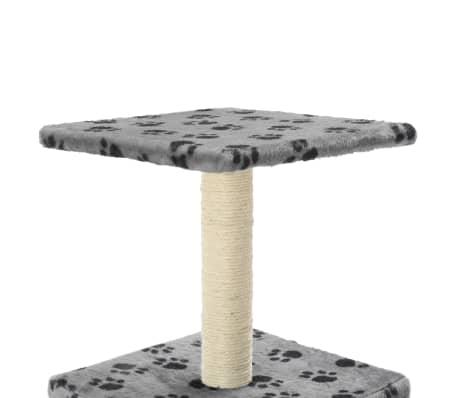 vidaXL Mačje drevo s praskalniki iz sisala 55 cm sive barve s tačkami[5/6]